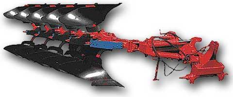 Плуг 4-5-ти корпусной оборотный модульный для каменистых почв ПО-(4+1)-40