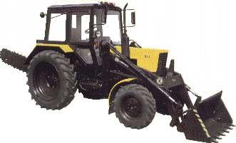 Экскаватор цепной ЭЦ- 567 на базе трактора Беларус 82.1