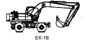 ЕК -18-20 (Дв. Д-245, ОПУ 1400, рук. L=2200 мм, ковш V=1 м3, гидравлика