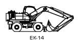 ЕК -14-20 (14.0 т, ковш - 0,8 м3)